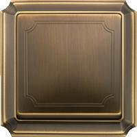 рамка античная латунь (металл) клавиша античная латунь (металл)